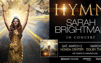 2019 Sarah Brightman Concert Tickets Giveaway